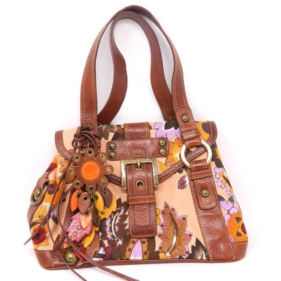 f40d137fb0 Isabella Fiore Handbags - Isabella Fiore Purse Handbag Brown Purple Orange